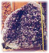 Beautiful Amethyst Geodes are on dispaly at your rocks and minerals program.